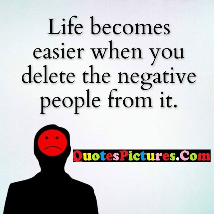 life easier negative people