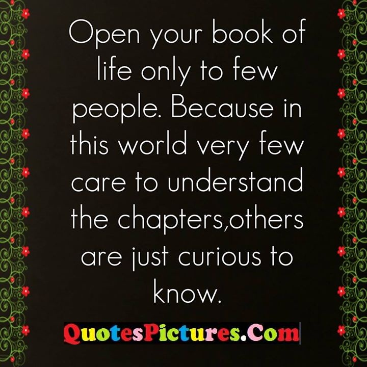 life few care understand curious