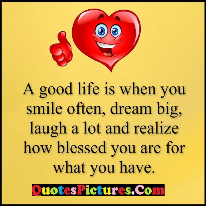 life smile dream laugh blessed
