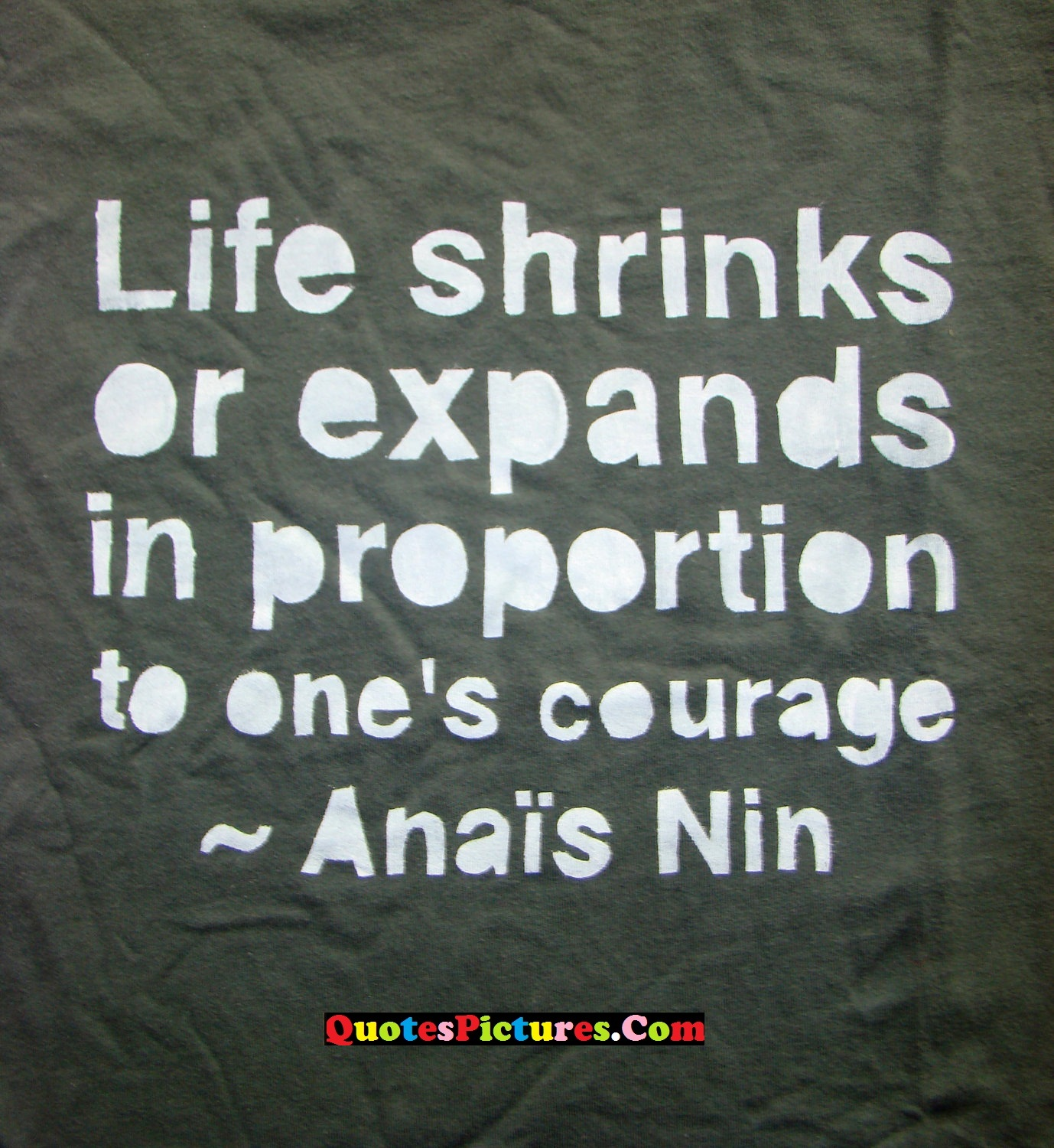 Lovely Favourite Quote - Life Shrinks Or Expands In Proportion To One's Courage  - Anai's Nin