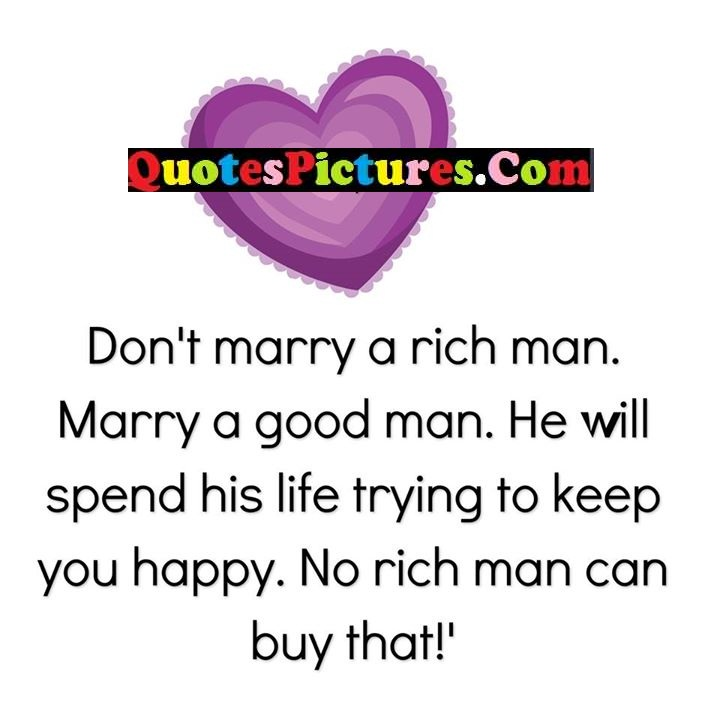 marry good spend buy