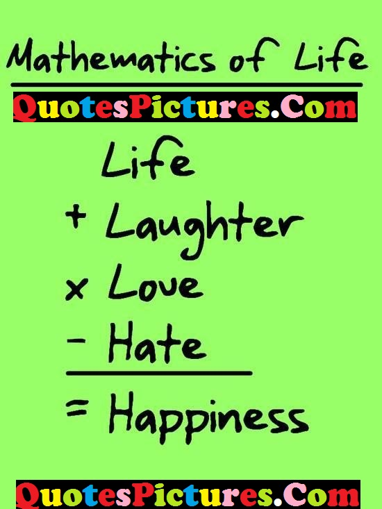 Mathematics Of Life Quote - Describe The Life By Mathematics