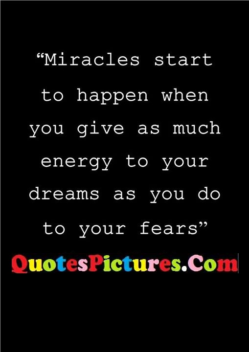 miracles give energy fears