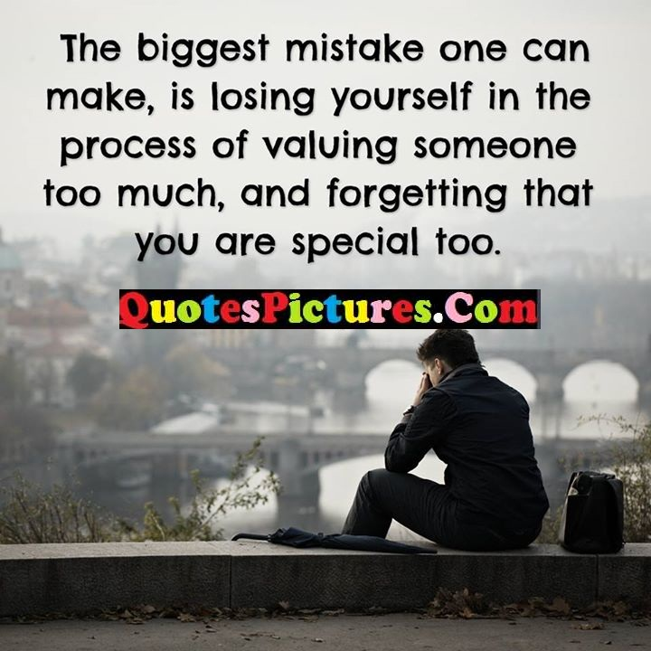 mistake valuing forgetting special