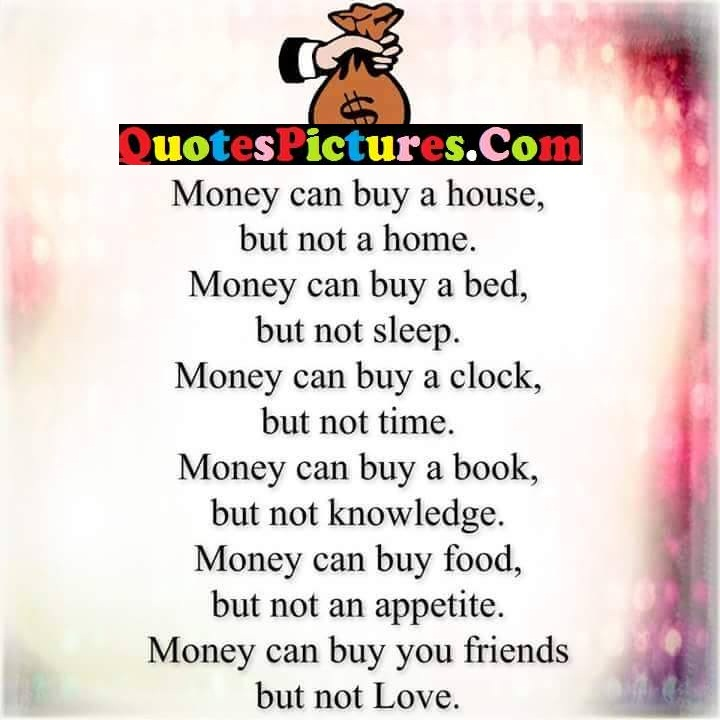money home bed sleep clock time book knowledge appetite love
