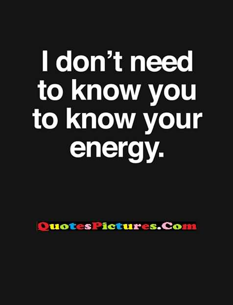 need to know your energy
