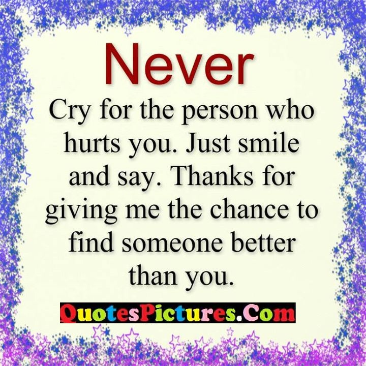 never cry thanks better