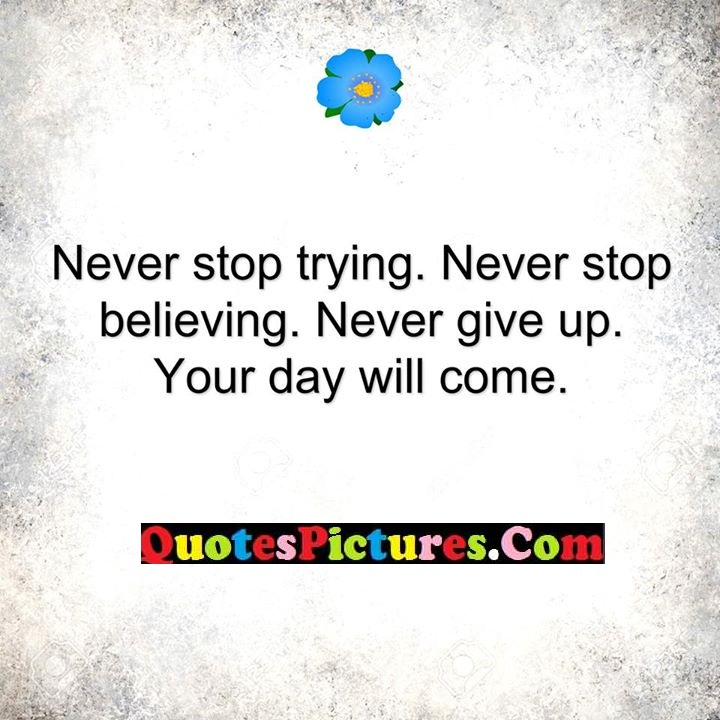 never give up day come