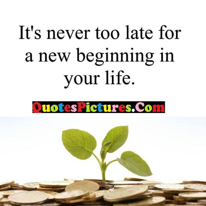 never late beginning life