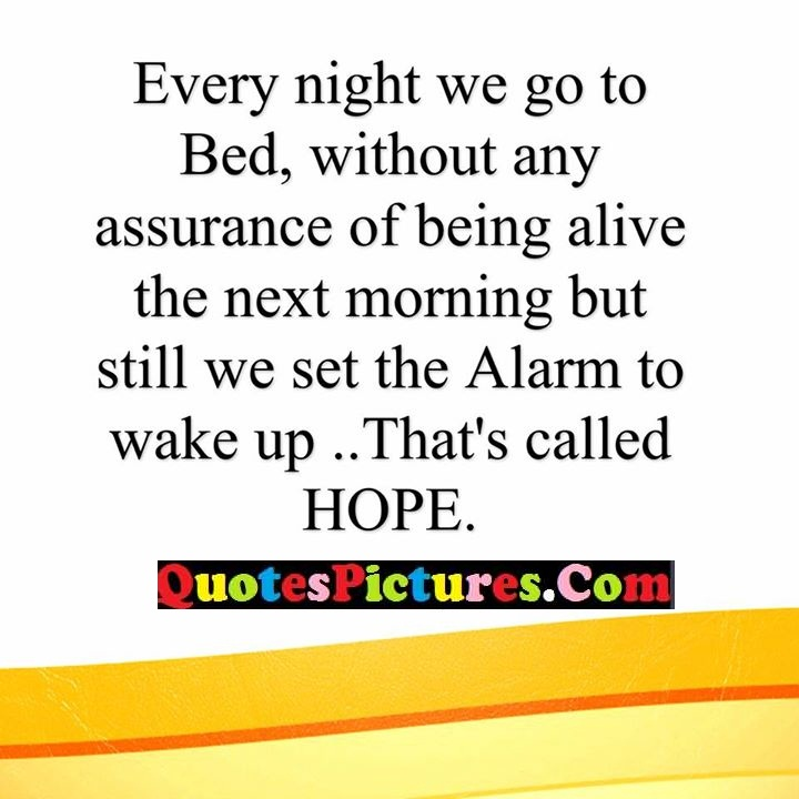 night assurance alarm wake up hope