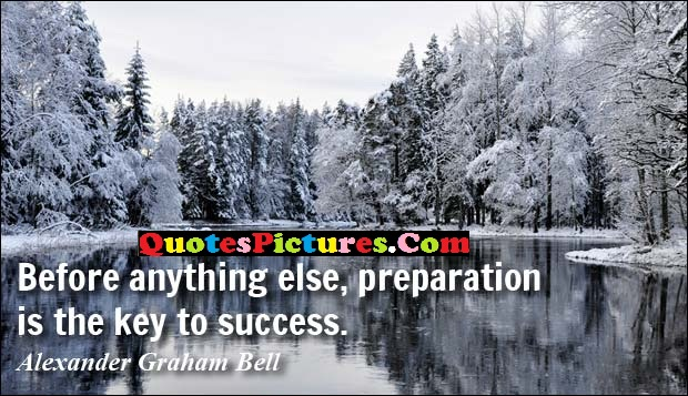 Perfect Victory Quote - Before Anything Else, Prepartion Is The Key To Success.
