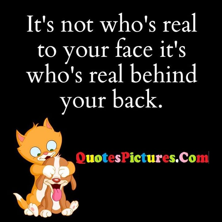 real face behind back