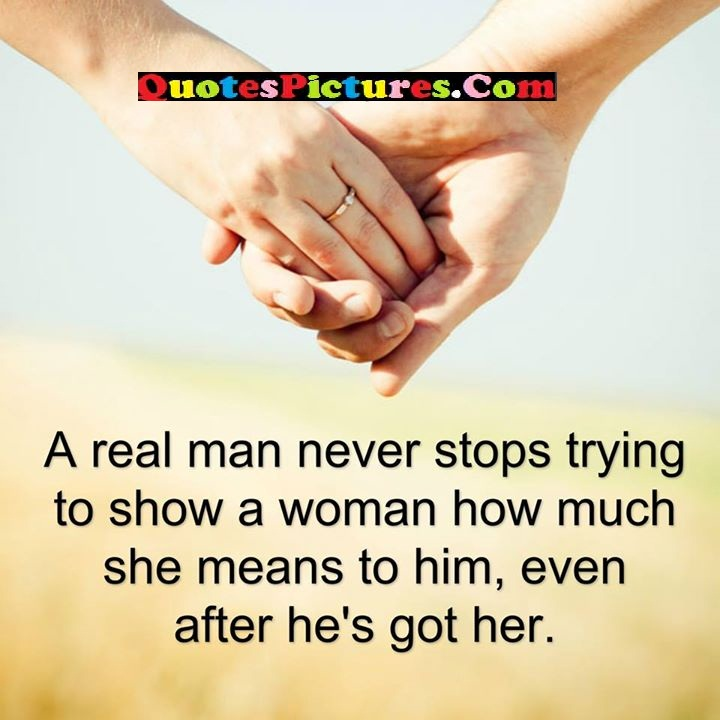 real man never stops
