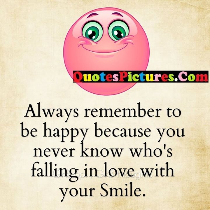 remember happy know falling smile