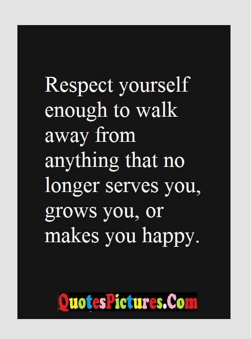 respect makes you happy
