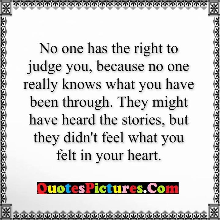 right judge knows through feel heart