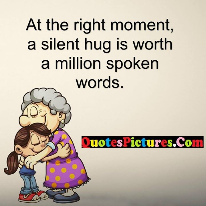 right moment hug words