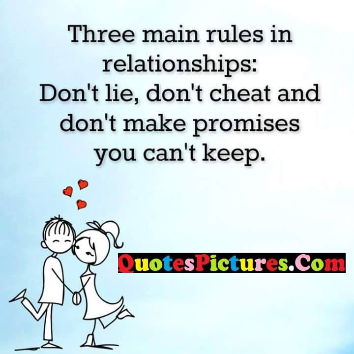 rules relationships cheat make promises
