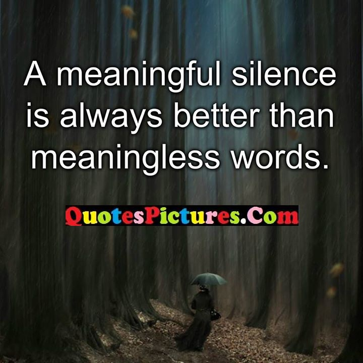 silence better words quote