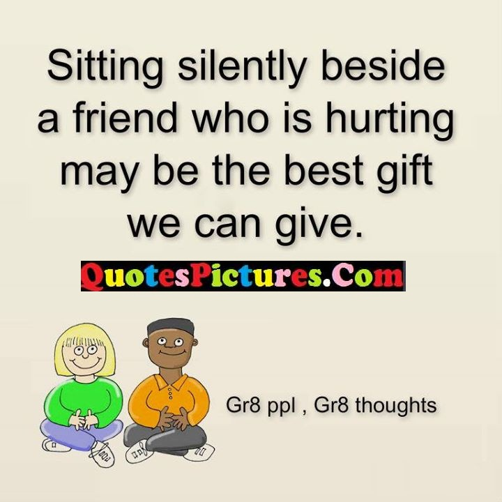 silently hurting gift give