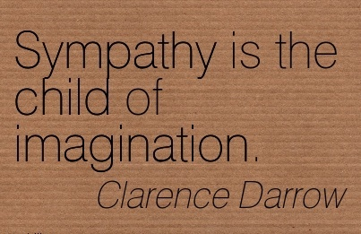 Sympathy is the child of imagination