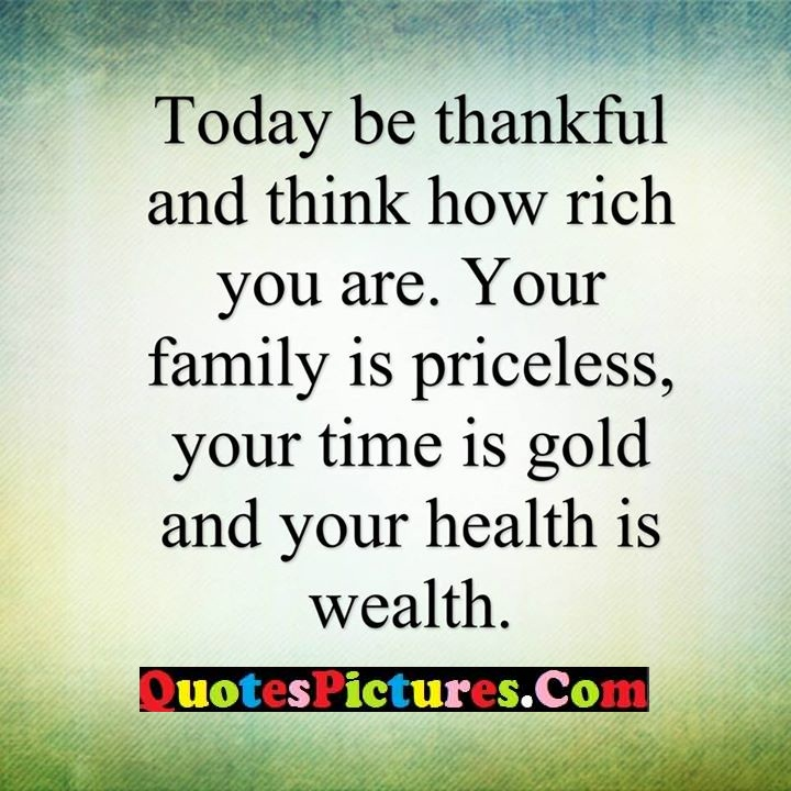 thankful family time health wealth