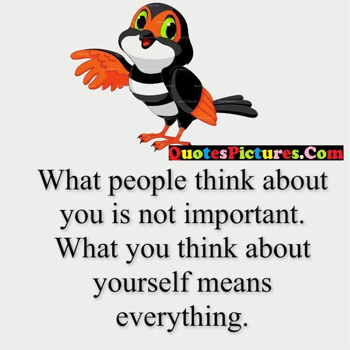 think about important means everything