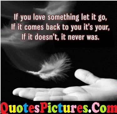 True Love Quote - If You Love Something Let It Go