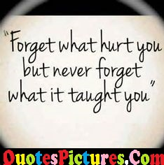 Ultimate Life Quote - Never Forget What It Taught You