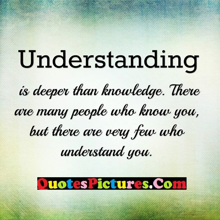 understanding knowledge know few