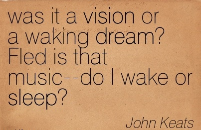 was it a vision or a waking dream Fled is that music–do I wake or sleep