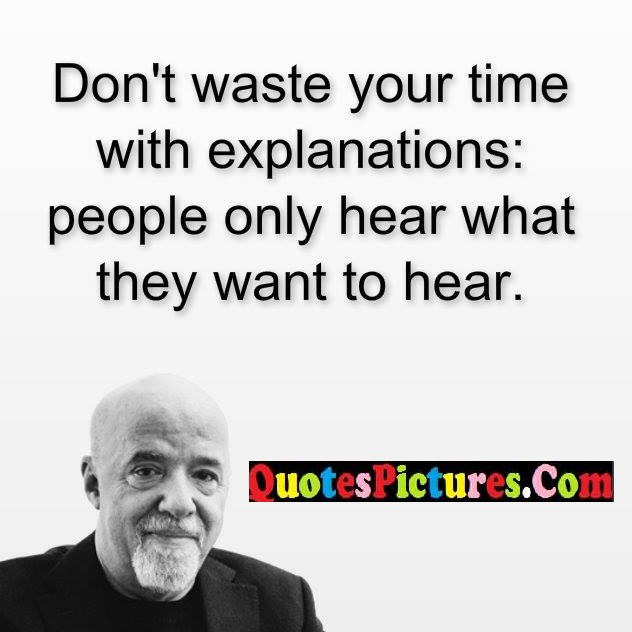 waste time hear quote