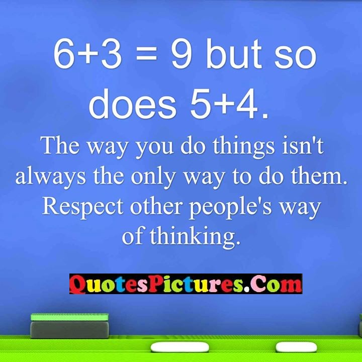 way things always respect thinking