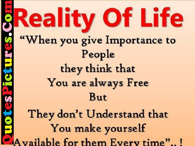 Wonderful Life Quote - Reality Of Life
