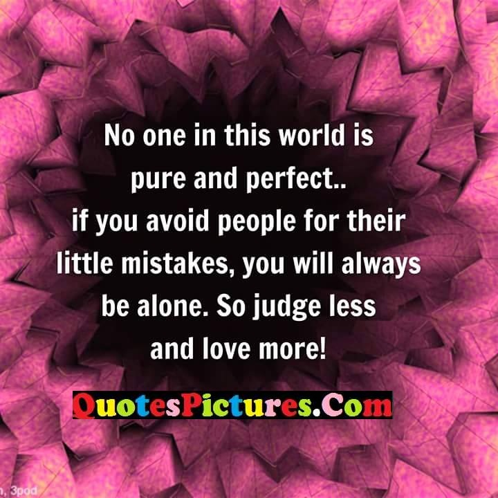 world pure perfect avoid mistakes