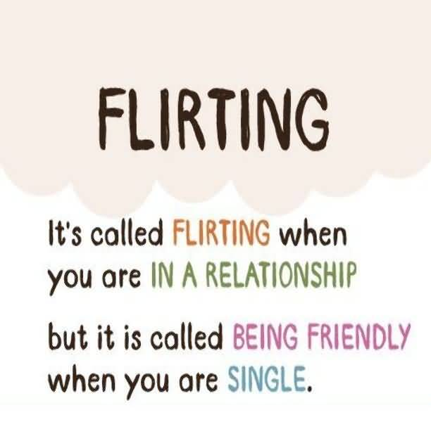 friendly vs flirting