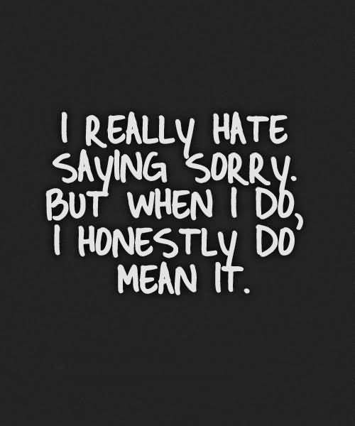 Sorry Quotes And Sorry Sayings Images