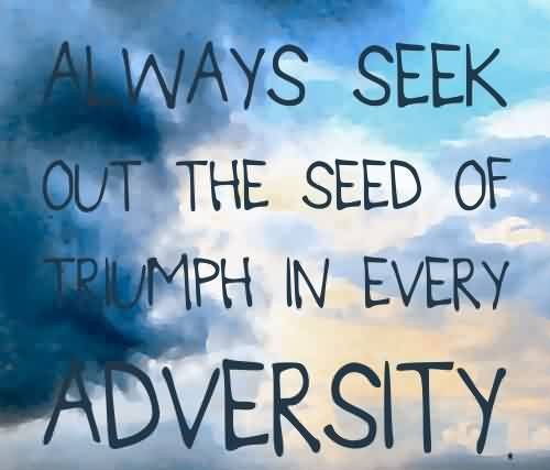 Best Adversity Quote – Always Seek Out The Seed of Triumph in ...