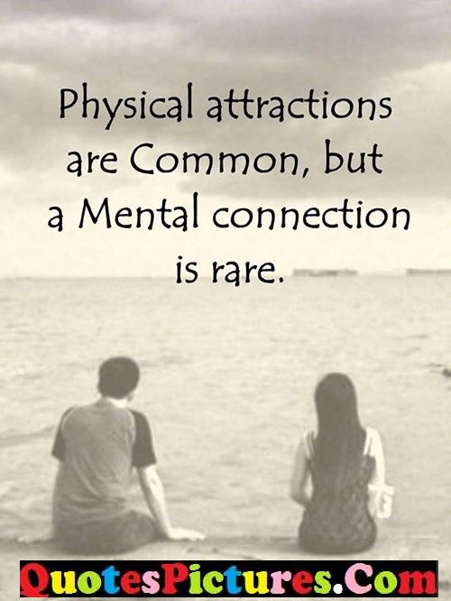 Nice Thought Quote About Mental Connection Is Rare Quotespictures Com